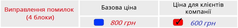 Описание цен на вебинар
